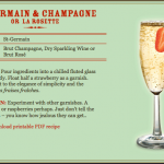 Friday Wine Tasting... St. Germain and Champagne!