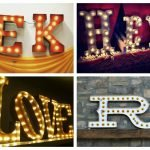 Wedding Wednesday... Marquee Letters