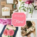Wedding Wednesday... Vintage Florals