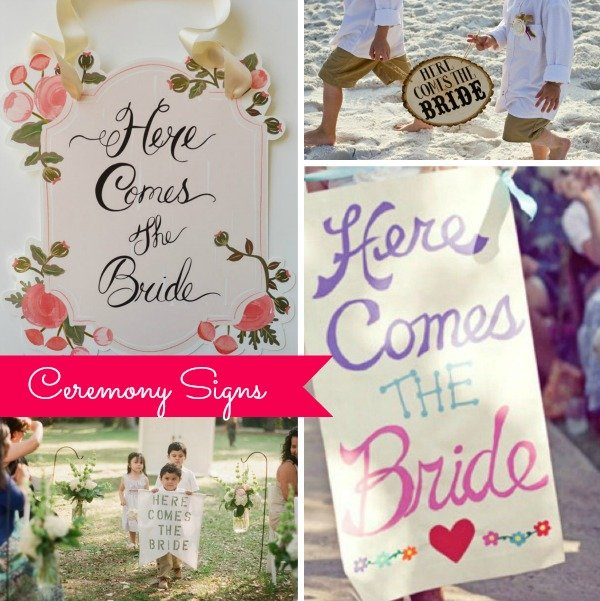 ceremony bride signs