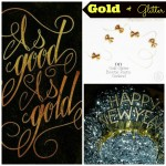 Coffee Talk Monday...Glitter & Gold!