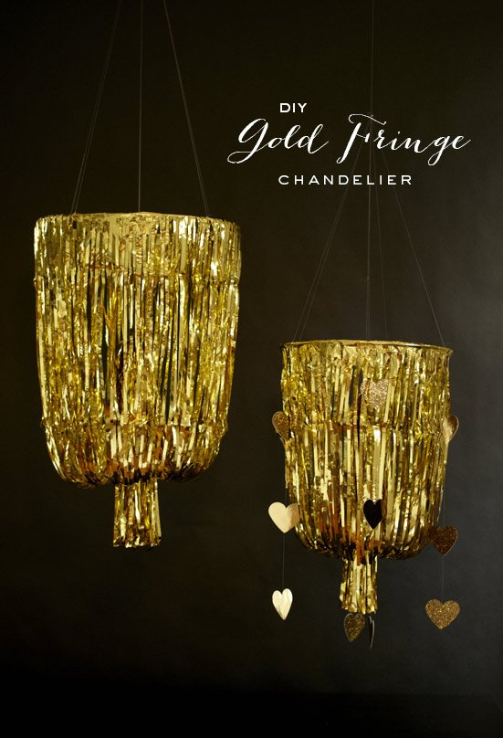 diy-gold-fringe-chandelier-1