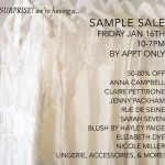 Coffee Talk Monday...Sample Sale at Everthine Bridal Boutique!