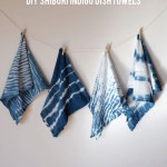 Inspiration from Anywhere...DIY Shibori Dish Towels!