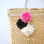 Inspiration from Anywhere...DIY Pom-Pom Tote!