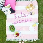 Inspiration from Anywhere....DIY Embroidered Picnic Blanket!