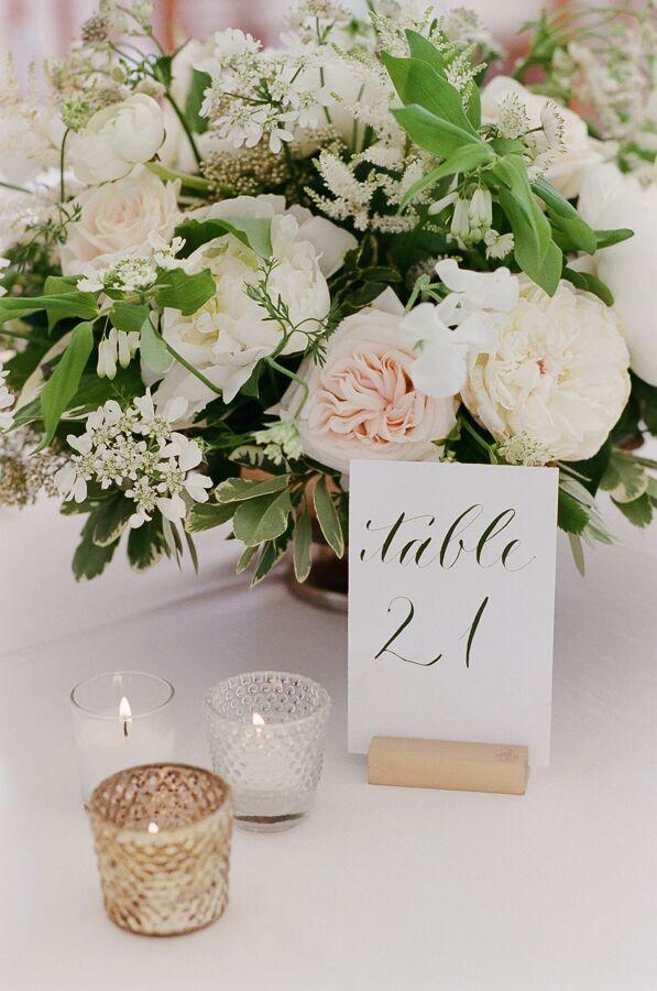 True Event- Wedding Wednesdays- Lizzy & Scott- Ocean House- Hana Floral Design- Centerpieces Leila Brewster Photography - Massachusetts Wedding Planner