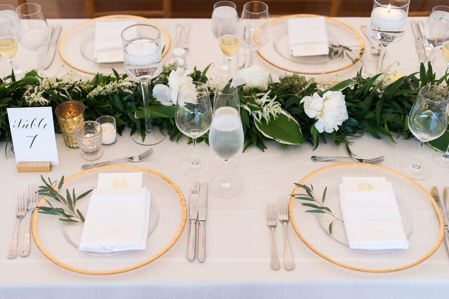 True Event- Wedding Wednesdays- Lizzy & Scott- Ocean House- Hana Floral Design- Tablescape - Leila Brewster Photography- Massachusetts Wedding Planner